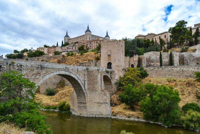 Обои картинки фото toldeo, города, толедо , испания, мост, река