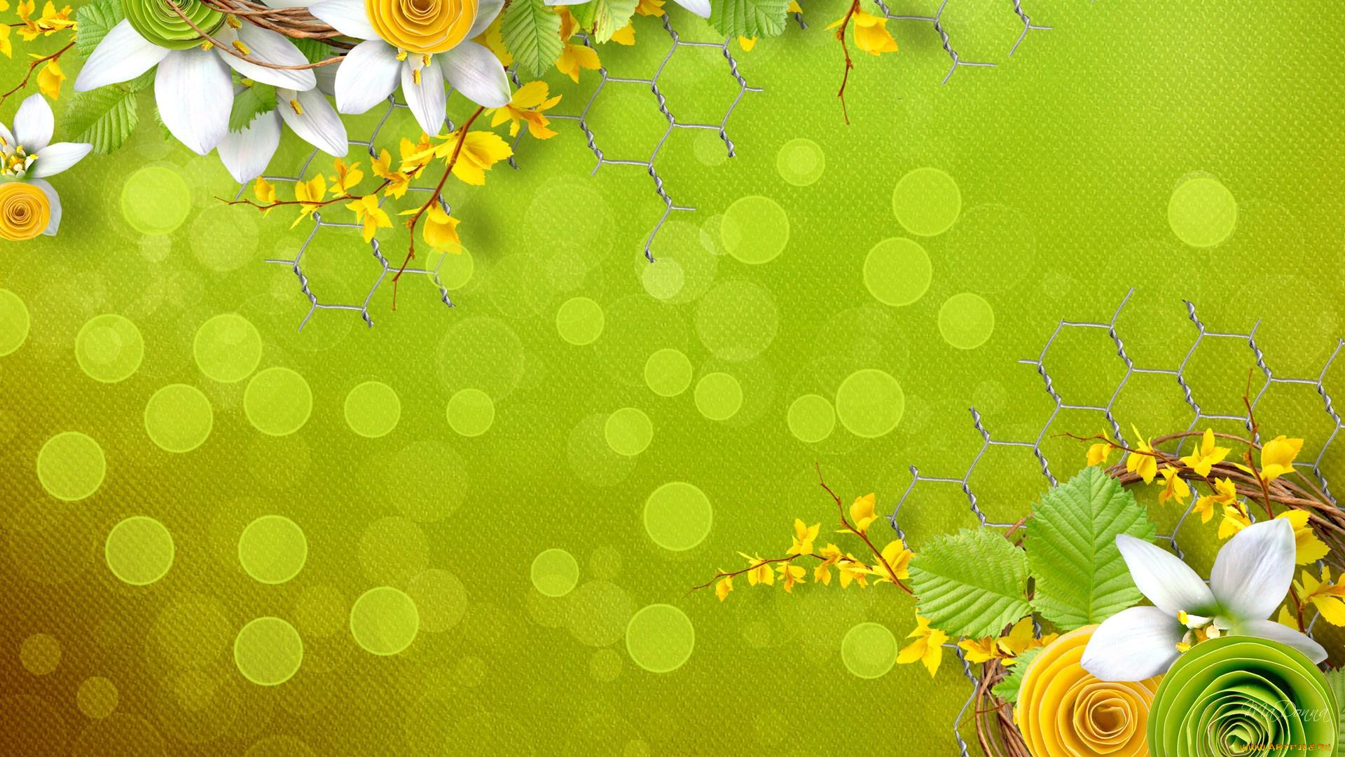 Желто-зеленый фон для открытки, открытки днем