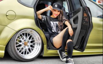 Картинка автомобили авто+с+девушками девушка азиатка автомобиль