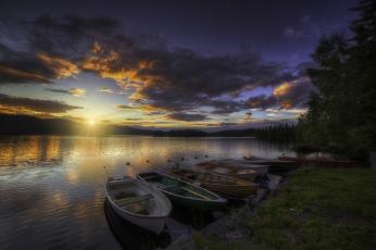 Картинка корабли лодки +шлюпки река утро рассвет