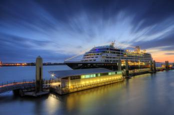 Картинка azamara+quest корабли лайнеры лайнер океанский круиз причал
