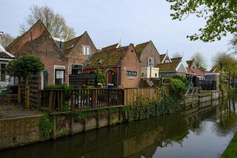 обоя города, - здания,  дома, здания, деревья, водоем, канал