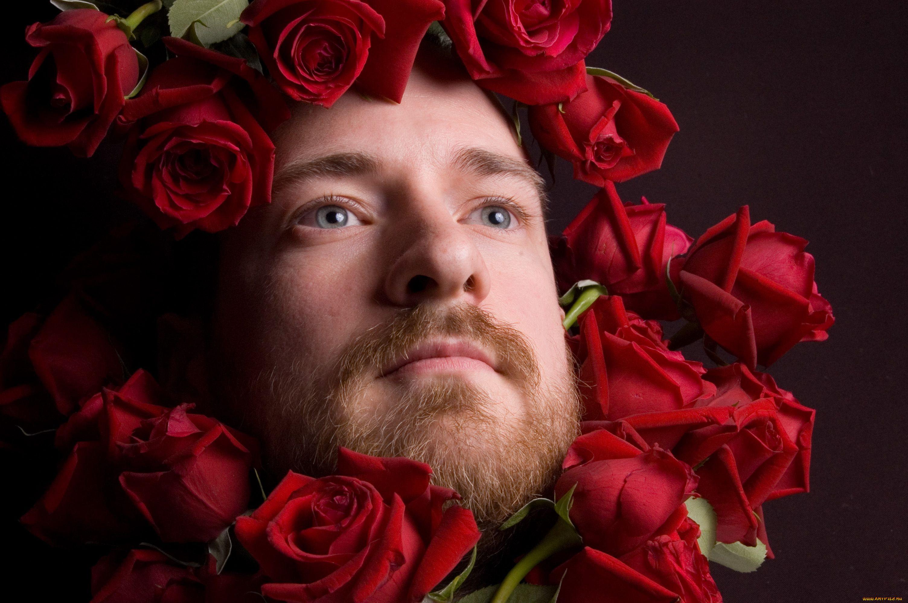Днем рождения, смешные картинки мужчины с цветами