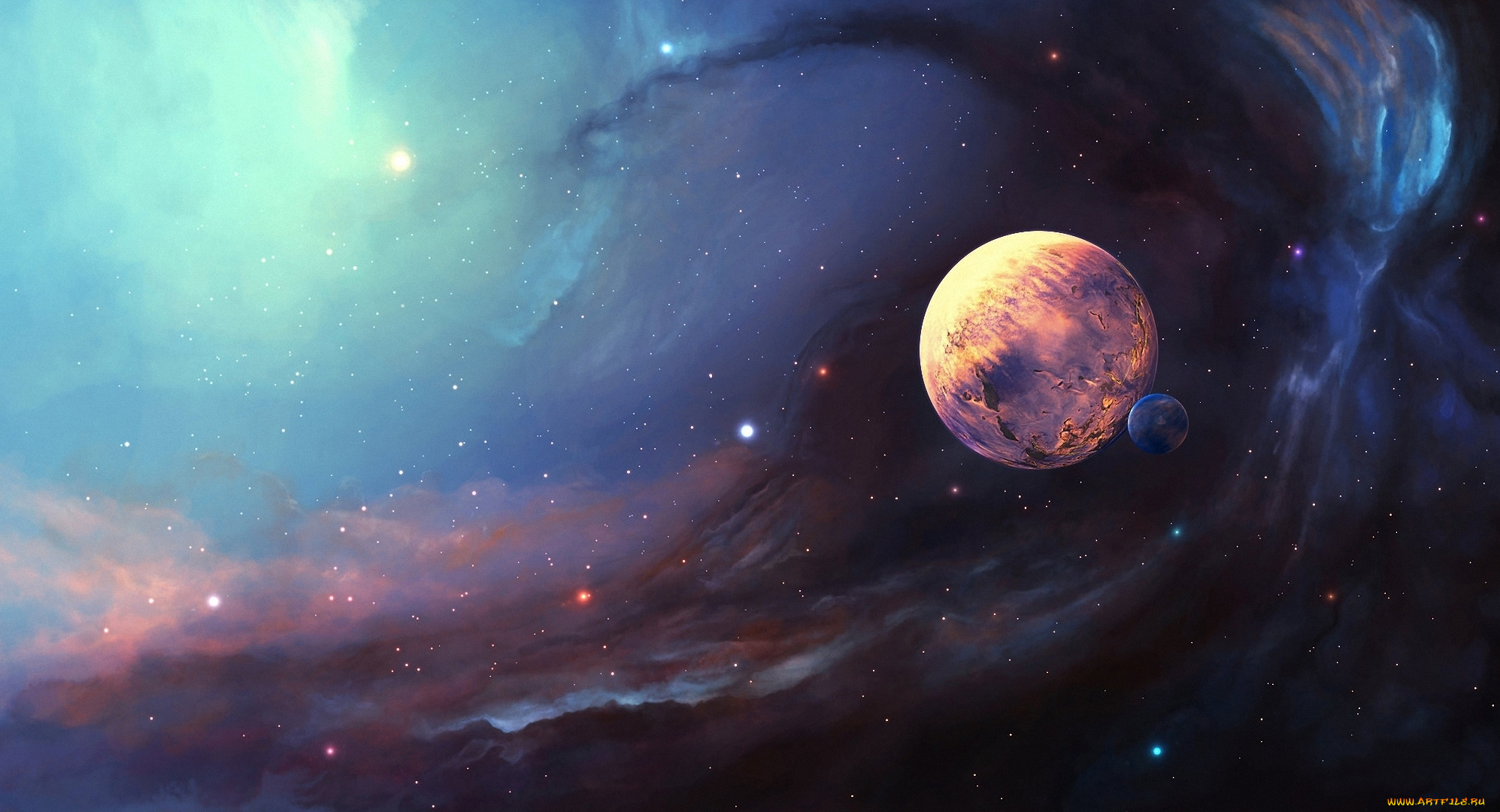 planets and stars - HD1995×1080