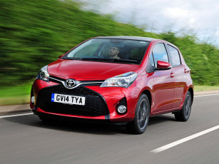 Картинка автомобили toyota красный 2014г uk-spec 5-door yaris