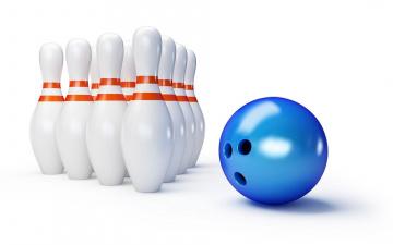 обоя спорт, 3d, рисованные, bowling