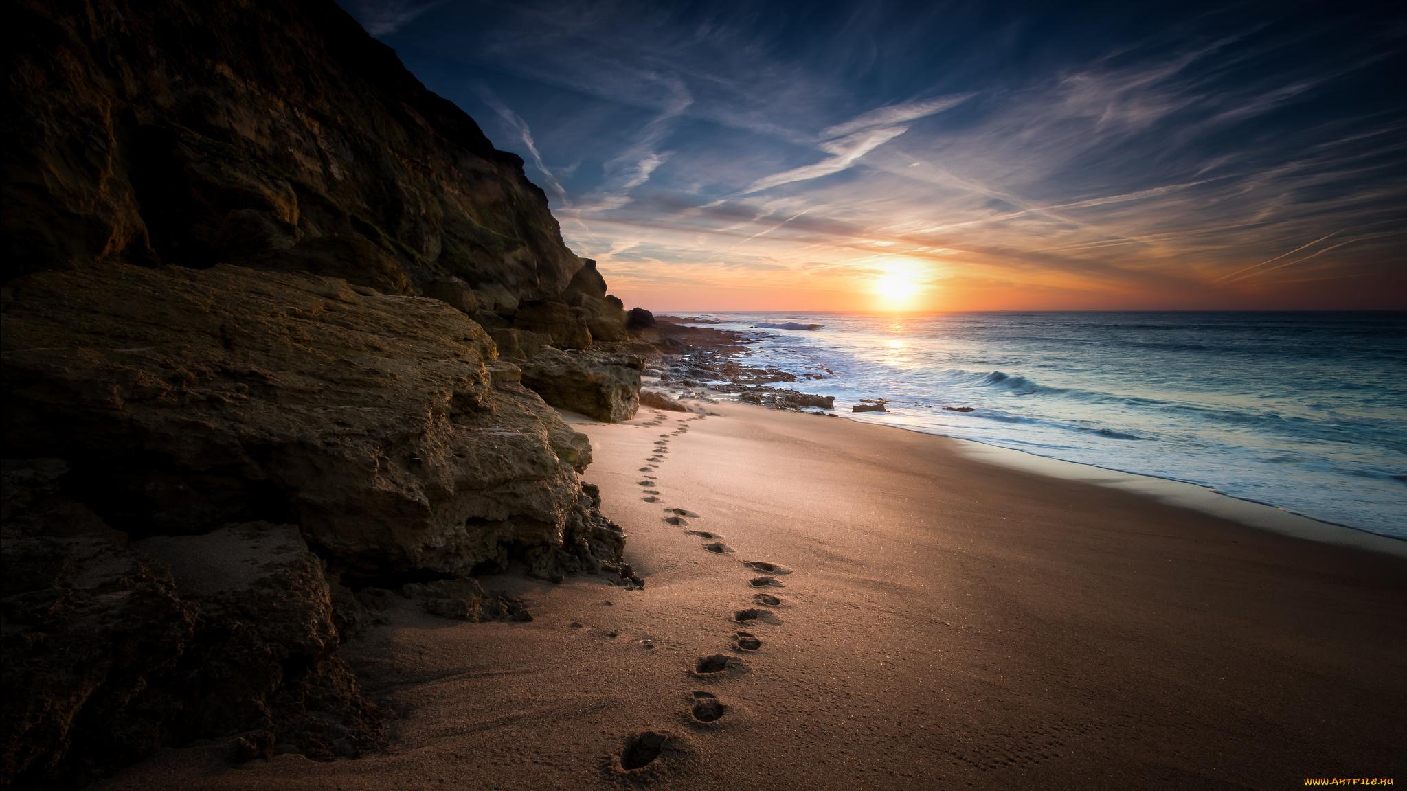 Берег закат песок  № 1209258 без смс