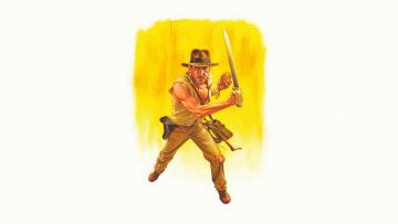 Картинка harrison+ford рисованное кино шляпа сабля взгляд мужчина