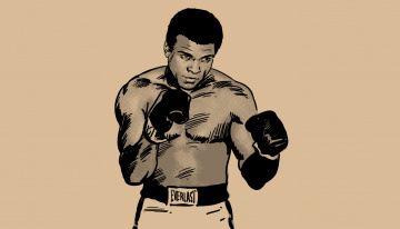 Картинка muhammad+ali рисованное люди перчатки боксёр фон мужчина