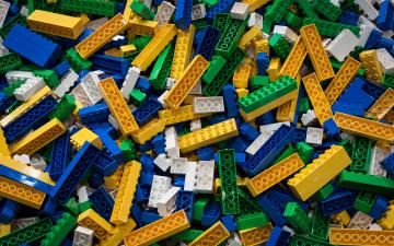 обоя разное, игрушки, конструктор, лего, детали, блоки, куча