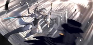 Картинка аниме pixiv+fantasia девушка