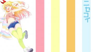 обоя аниме, nisekoi, фон, взгляд, девушка