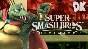 обоя super smash bros,  ultimate, видео игры, крокодил