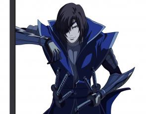 Картинка аниме sengoku+basara фон взгляд меч парень арт оружие