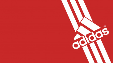 Картинка бренды adidas красный