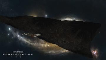 Картинка видео+игры star+trek+constellation космический корабль полет вселенная планета поверхность