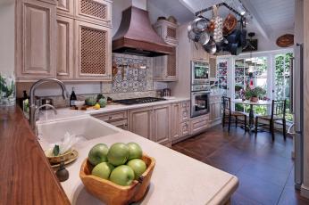 обоя интерьер, кухня, стиль, мебель
