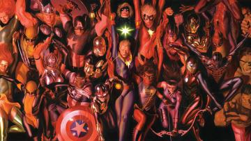 обоя рисованное, комиксы, marvel, comics