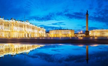 обоя города, санкт-петербург,  петергоф , россия, колонна, здания, дворцы, площадь