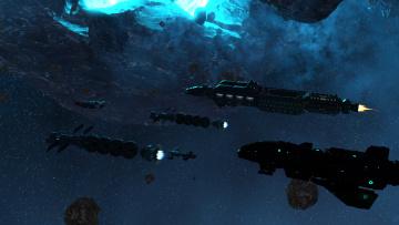 обоя 3д графика, космические корабли,  звездолеты , spaceships,  starships, космический, корабль, полет, вселенная, галактика
