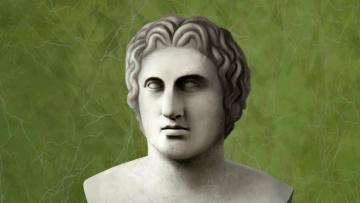 обоя рисованное, - другое, лицо, скульптура