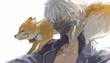 обоя аниме, touken ranbu, танец, мечей
