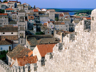 Картинка ramparts of hvar croatia города