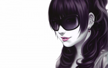 Картинка рисованные люди очки девушка