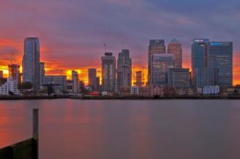 обоя города, лондон , великобритания, англия, зарево, дома, вечер, лондон