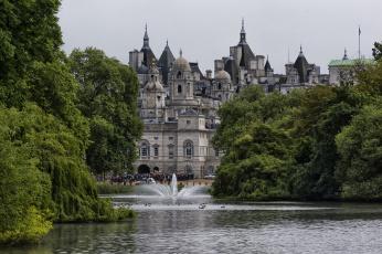 обоя st james park lake, города, лондон , великобритания, собор, озеро, парк