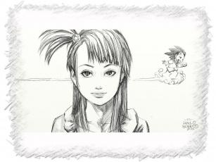 Картинка bulma goku by paulobarrios рисованные дети
