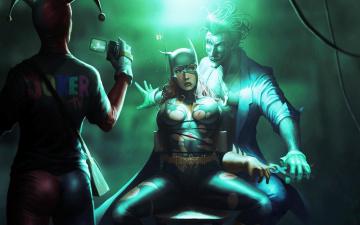 Картинка the joker and harley queen рисованные комиксы съемка пытка