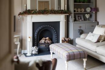 обоя интерьер, камины, диван, огонь
