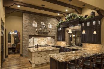 Картинка интерьер кухня мебель