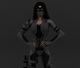 Картинка 3д+графика фантазия+ fantasy фон взгляд девушка маска