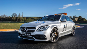 обоя mercedes-benz amg c63 s-estate f1 medical car 2015, автомобили, mercedes-benz, 2015, car, medical, f1, s-estate, c63, amg, mercedes-, benz
