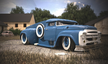 обоя zil-130 hot rod, автомобили, 3д, rod, hot, 130, zil