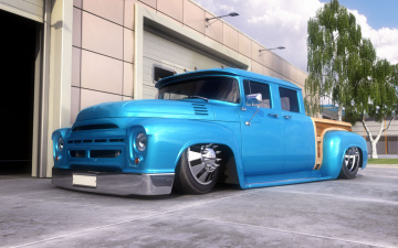 обоя zil-130 hot rod, автомобили, 3д, rod, 130, hot, zil