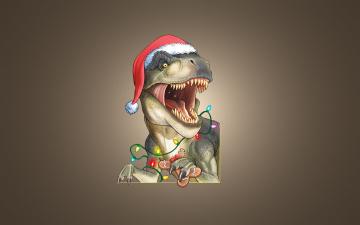 Картинка новогодний+динозавр юмор+и+приколы новогодний динозавр christmas dinosaur