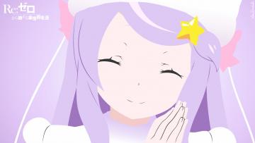 обоя аниме, re,  zero kara hajimeru isekai seikatsu, фон, взгляд, девушка