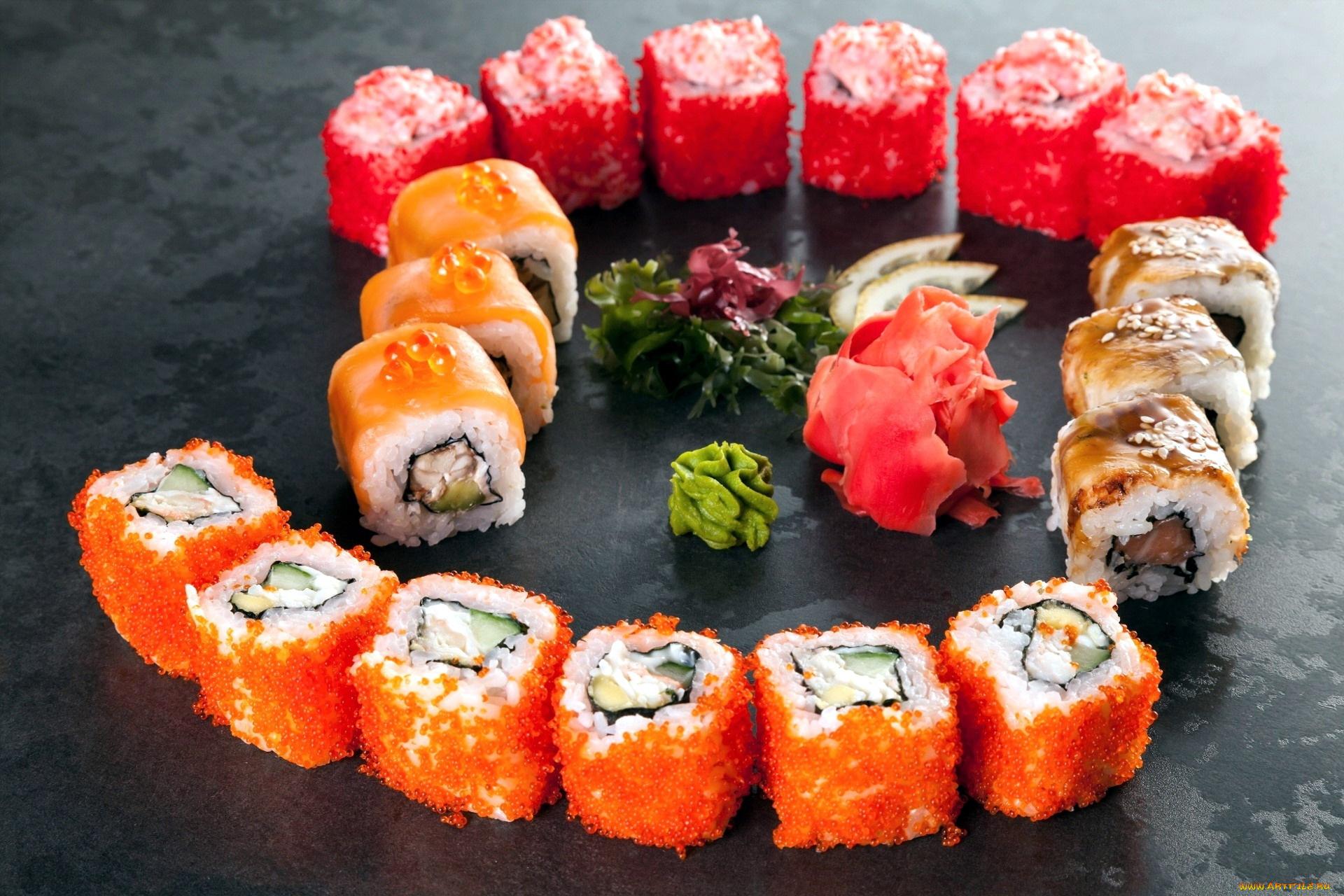 еда суши роллы вассаби япония загрузить