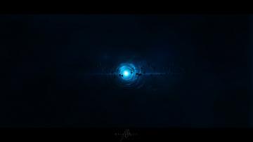 Картинка космос арт метеориты сияние