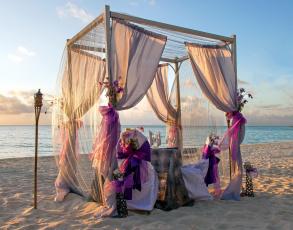 обоя интерьер, декор,  отделка,  сервировка, украшения, кресла, стол, пляж, море
