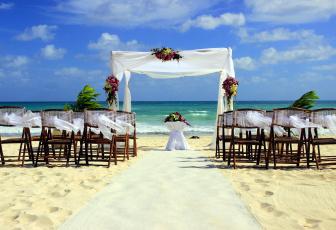 обоя интерьер, декор,  отделка,  сервировка, свадьба, песок, букеты, пляж, море