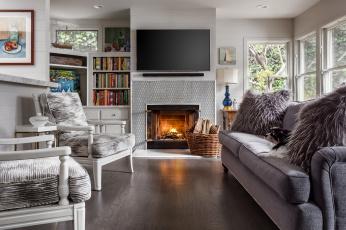 обоя интерьер, камины, комната, диван, кресла, камин
