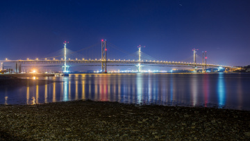 обоя города, - мосты, мост, река, ночь