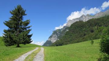 обоя природа, дороги, горы, дорога, лето