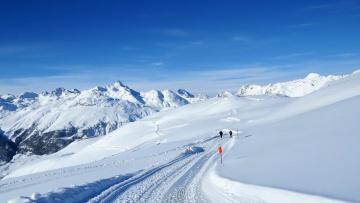 обоя природа, зима, снег, горы