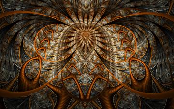 Картинка 3д+графика fractal+ фракталы фон цвета узор