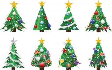 Картинка праздничные векторная+графика+ новый+год елки
